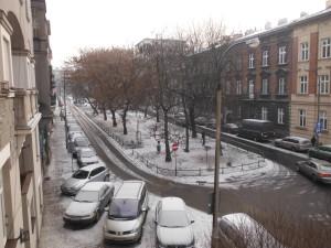 Vistas desde el apartamento de Cracovia.