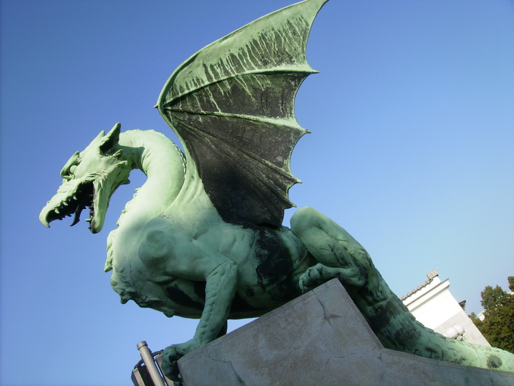 Puente de los dragones, Ljubljana, Eslovenia.
