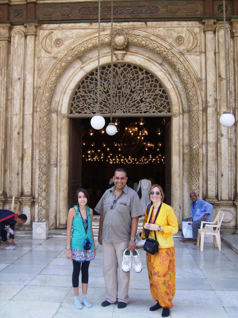 Exterior de la Mezquita de Alabastro, en el Cairo Islámico.