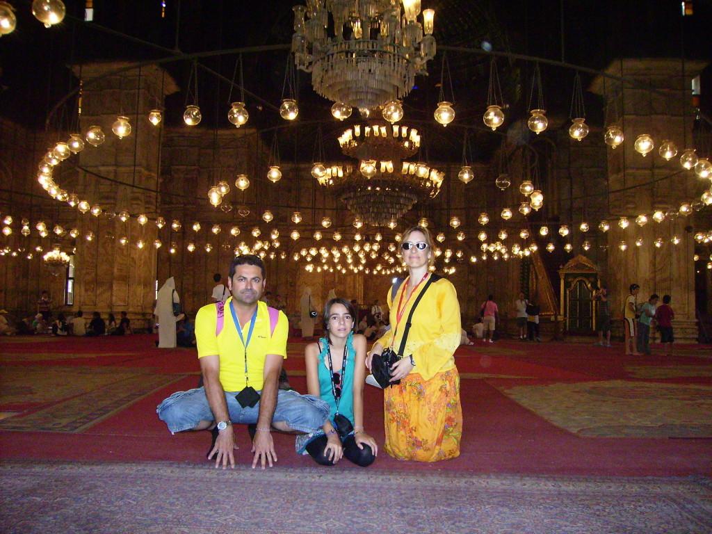 Interior de la Mezquita de Alabastro