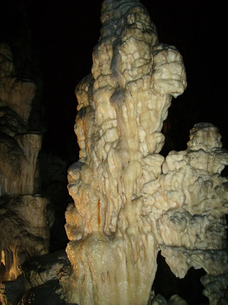 Interior de las Cuevas de Postojna, en Eslovenia.
