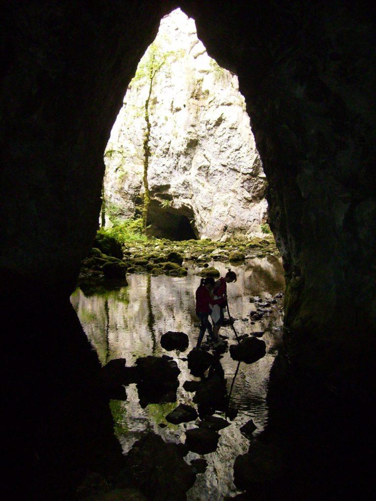 Cuevas intercomunicadas de Rakov Skocjan en Eslovenia.