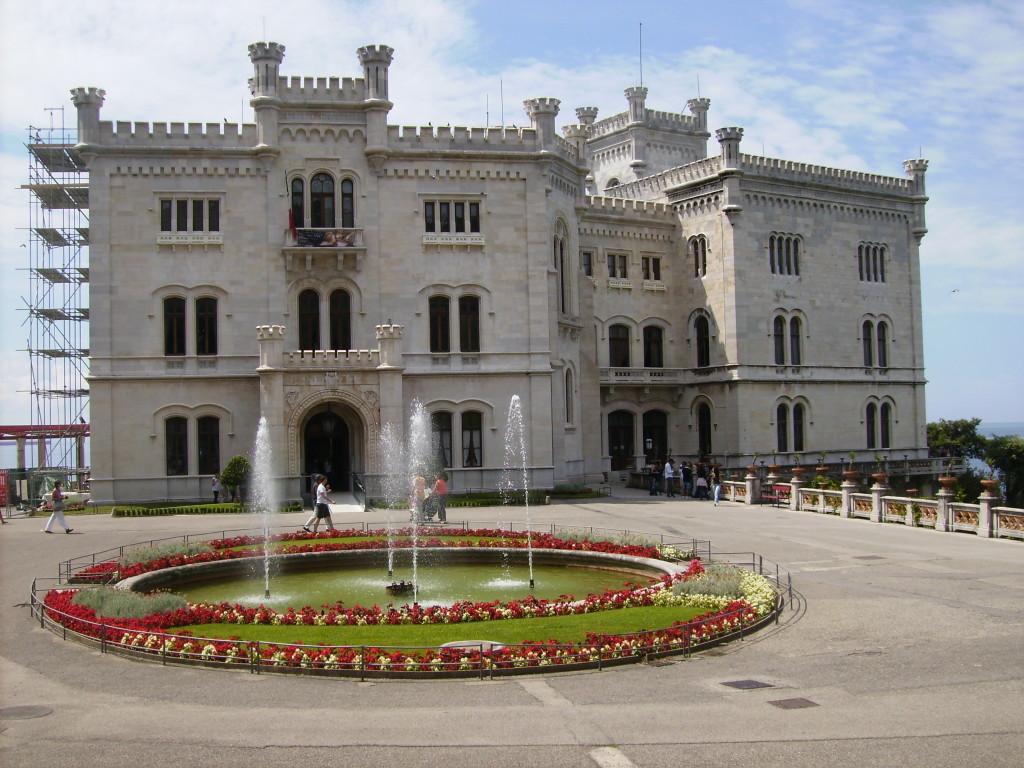 Castillo de Miramar, en Trieste, Italia.