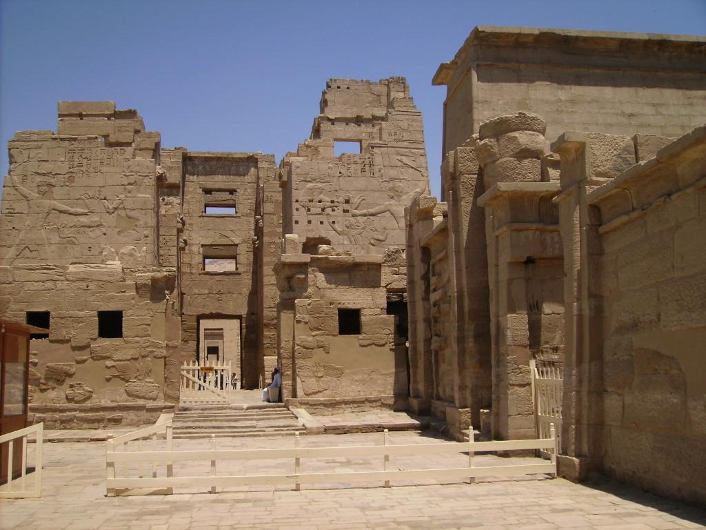 Templo de Medinet Habu en Luxor.
