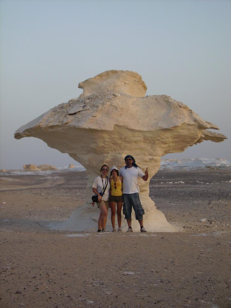Formaciones rocosas en el Desierto Blanco.