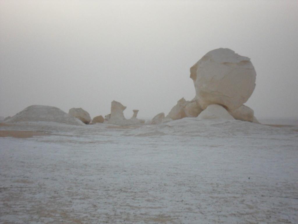 Anocheciendo en el Desierto Blanco