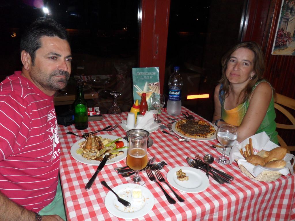Cena en el hotel Pyramisa Aswan.