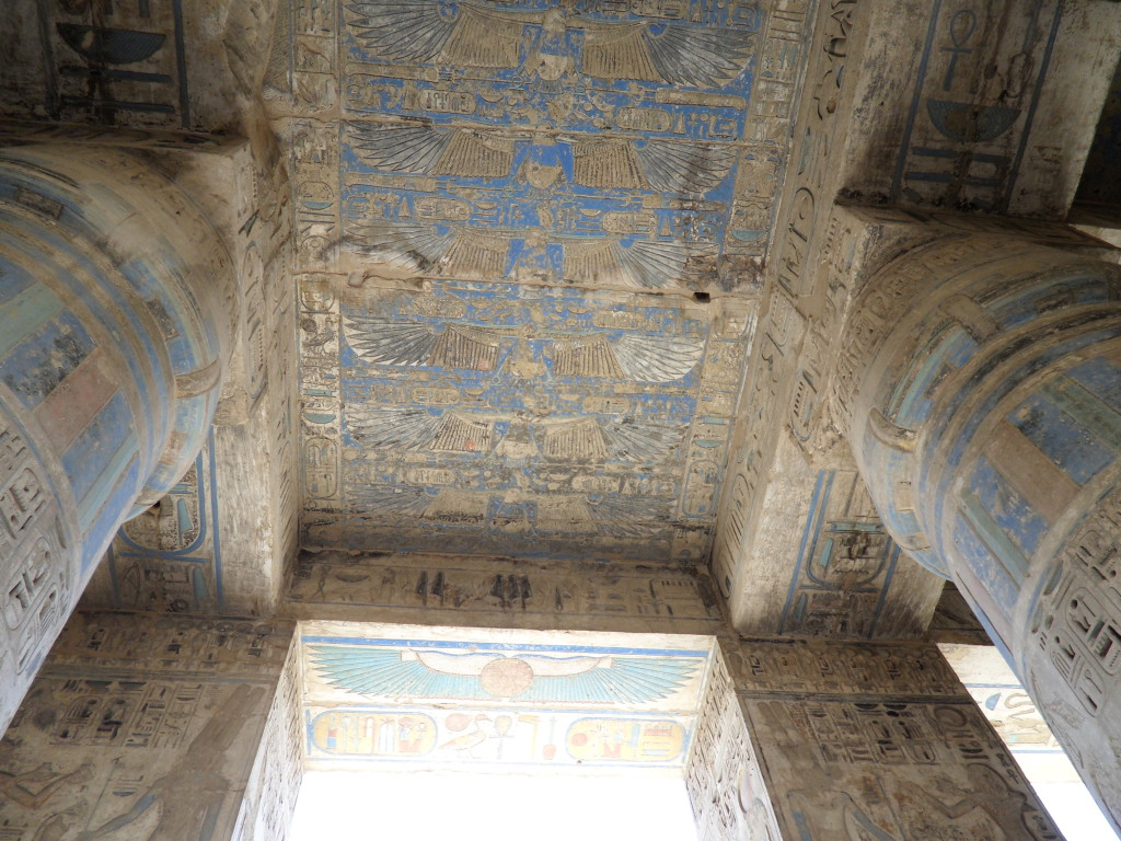 Pinturas en el Templo de Medinet Habu en Luxor.