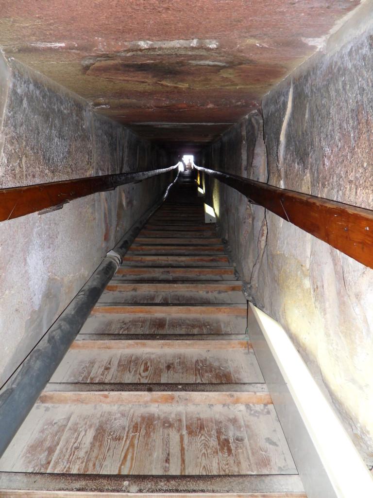 Interior de la Pirámide de Dahshur.