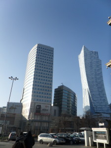 Distrito financiero de Varsovia.