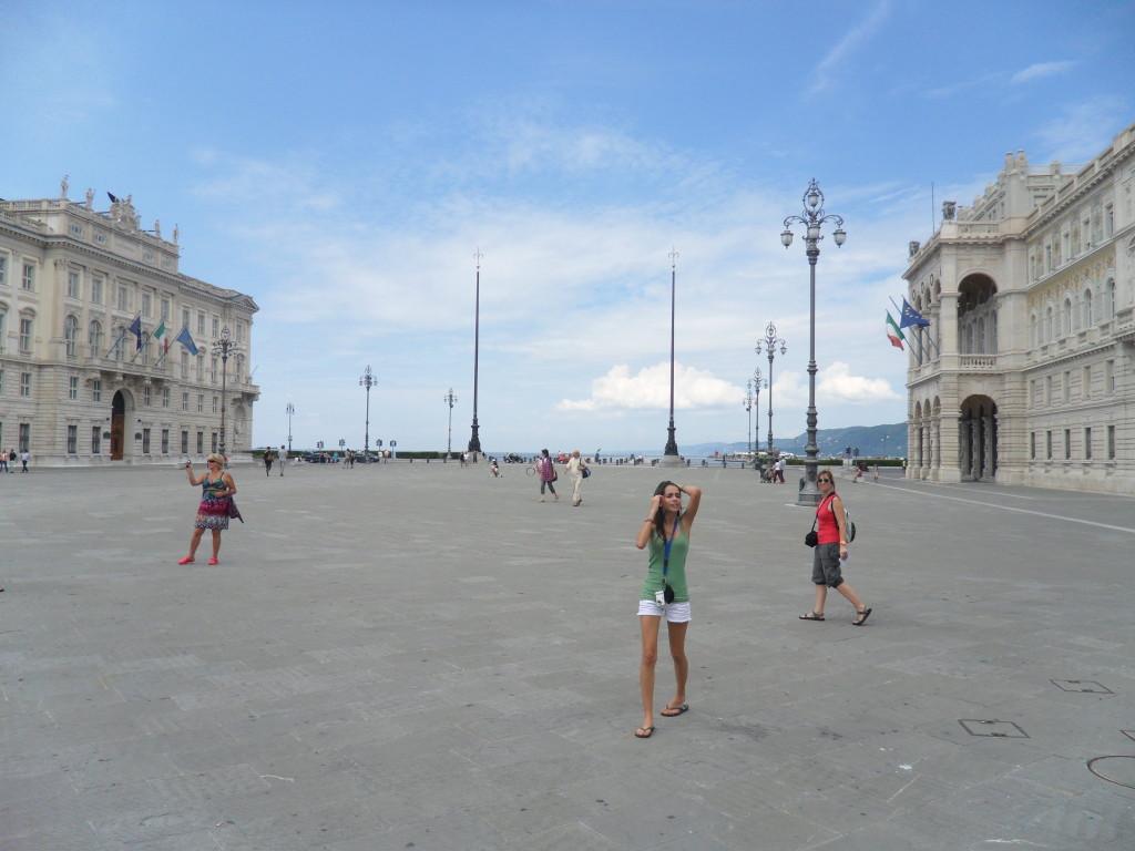 Plaza de la Unidad Italiana en Trieste, Italia.