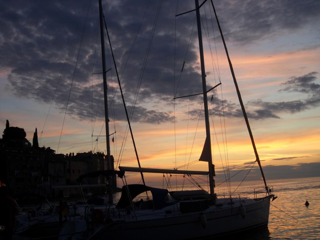 Puerto de Rovinj en Croacia.