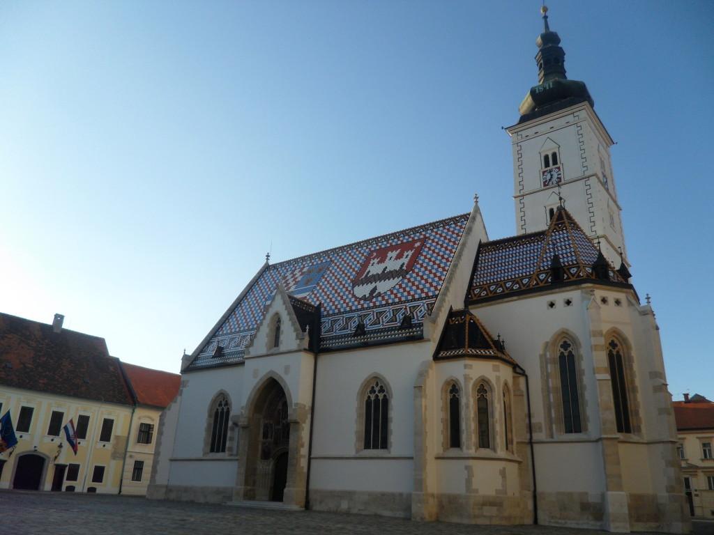 Iglesia de San Marco, en Zagreb, Croacia.