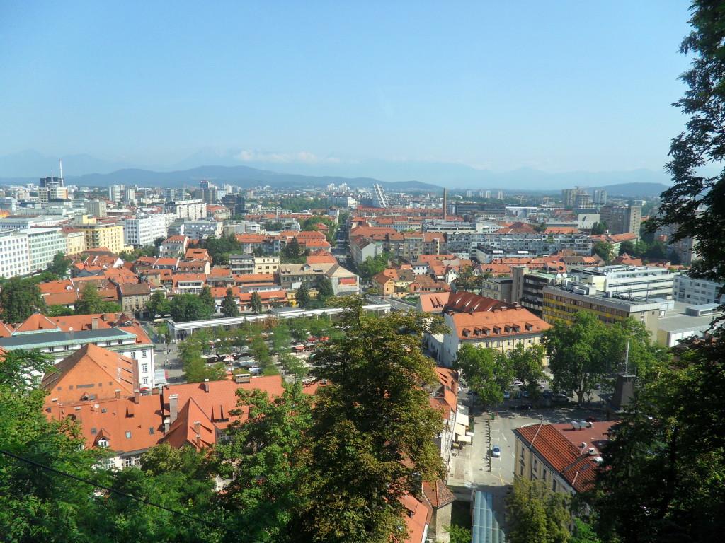 Vistas desde el Castillo de Ljubljana, Eslovenia.