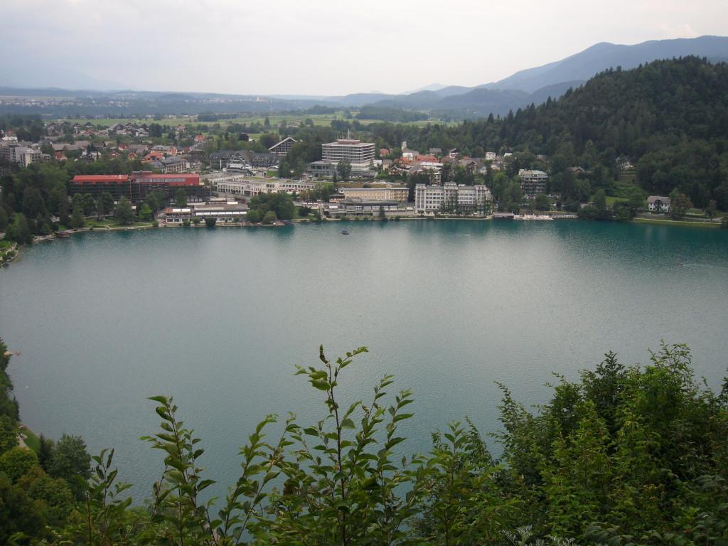 Vistas del Lago Bled, desde el Castillo.