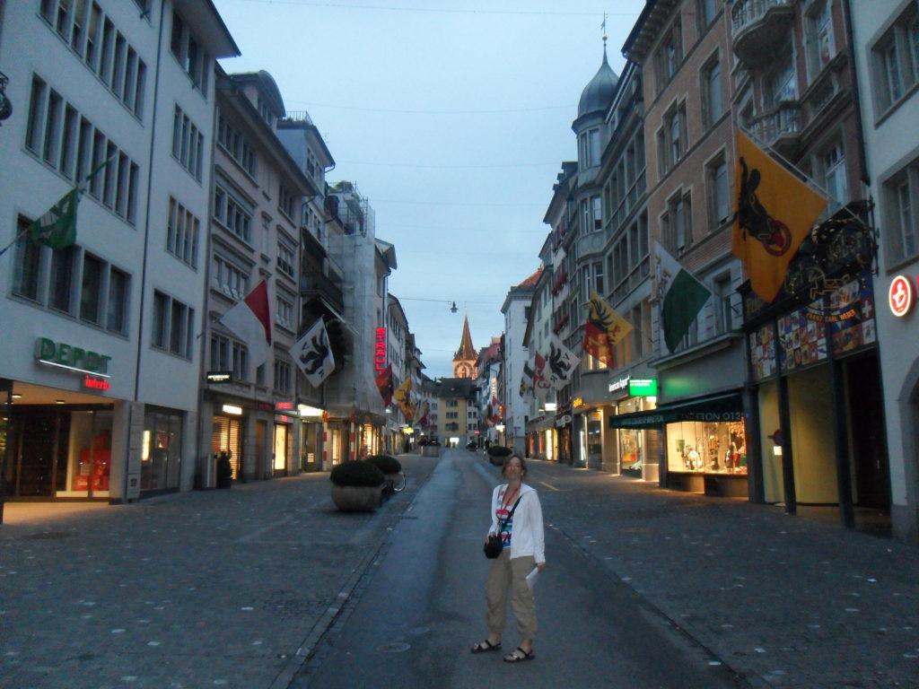 Bahnhofstrasse en Zurich, Suiza.