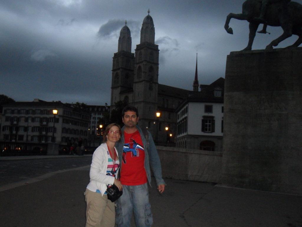 Grossmünster en Zurich, Suiza.