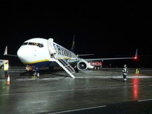 Avión de vuelta a casa.