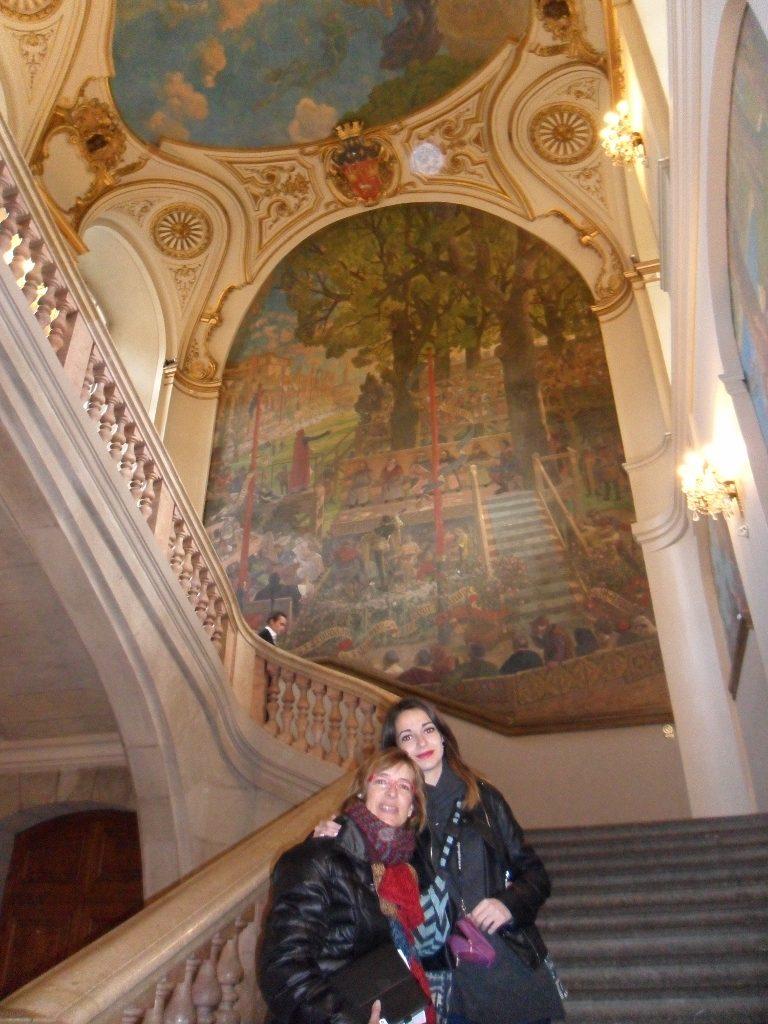 Interior del Ayuntamiento de Toulouse, en Francia.
