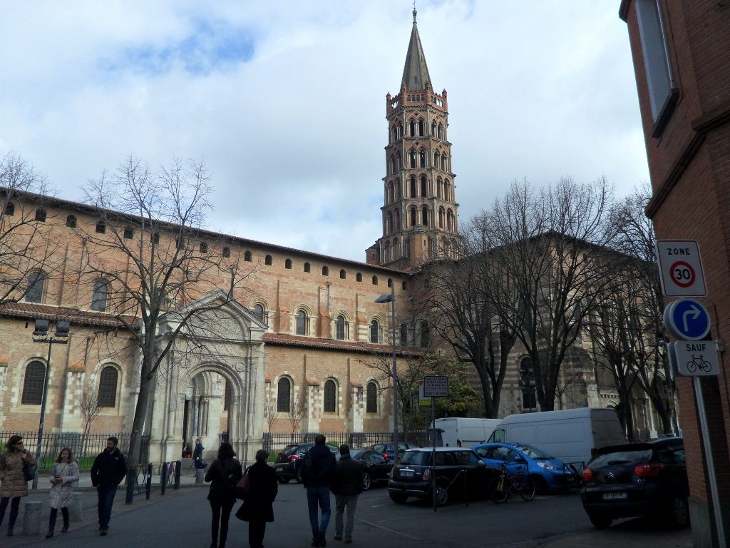 Basílica de San Saturnino (Saint Sernin) en Toulouse, Francia.