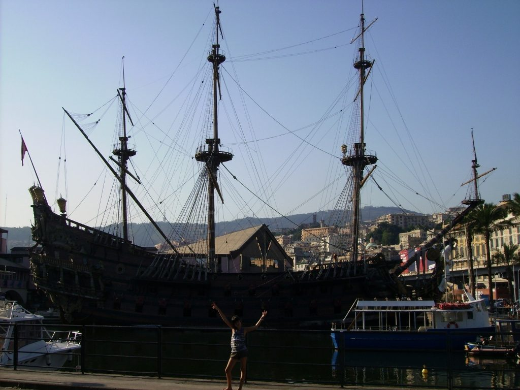 Puerto de Génova en Italia.
