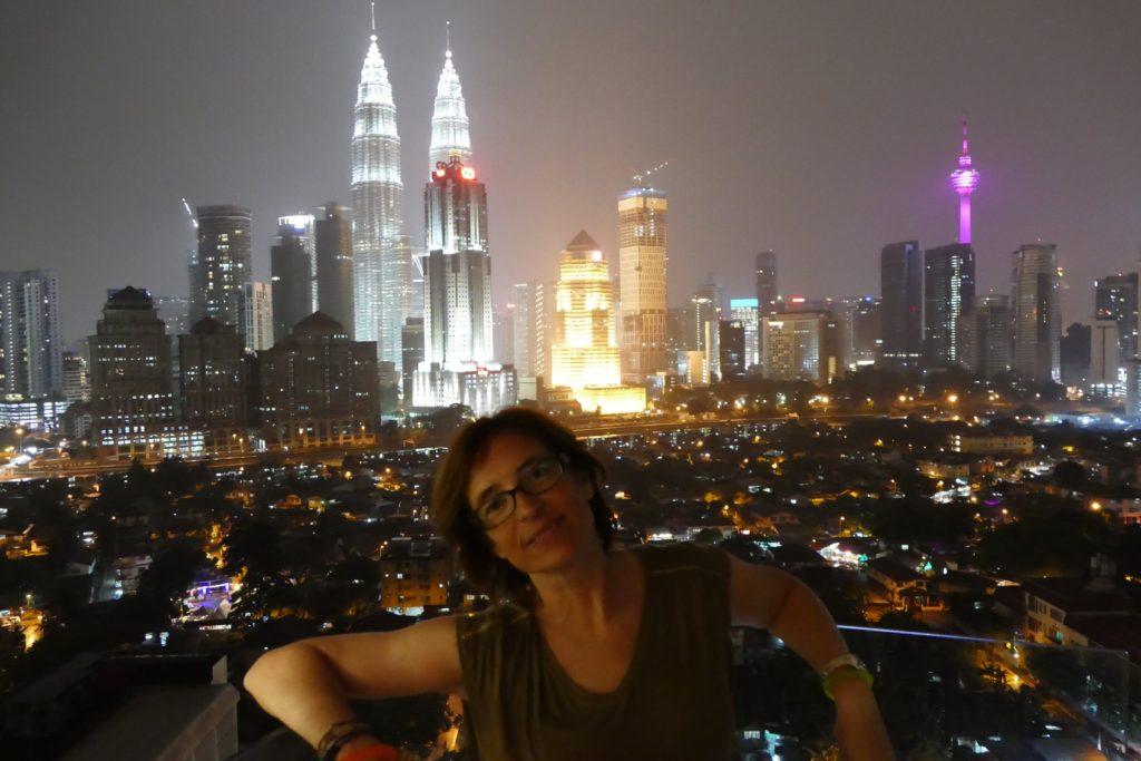 Vistas desde nuestro apartamento en Kuala Lumpur.
