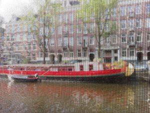 Casa florante en Amsterdam.