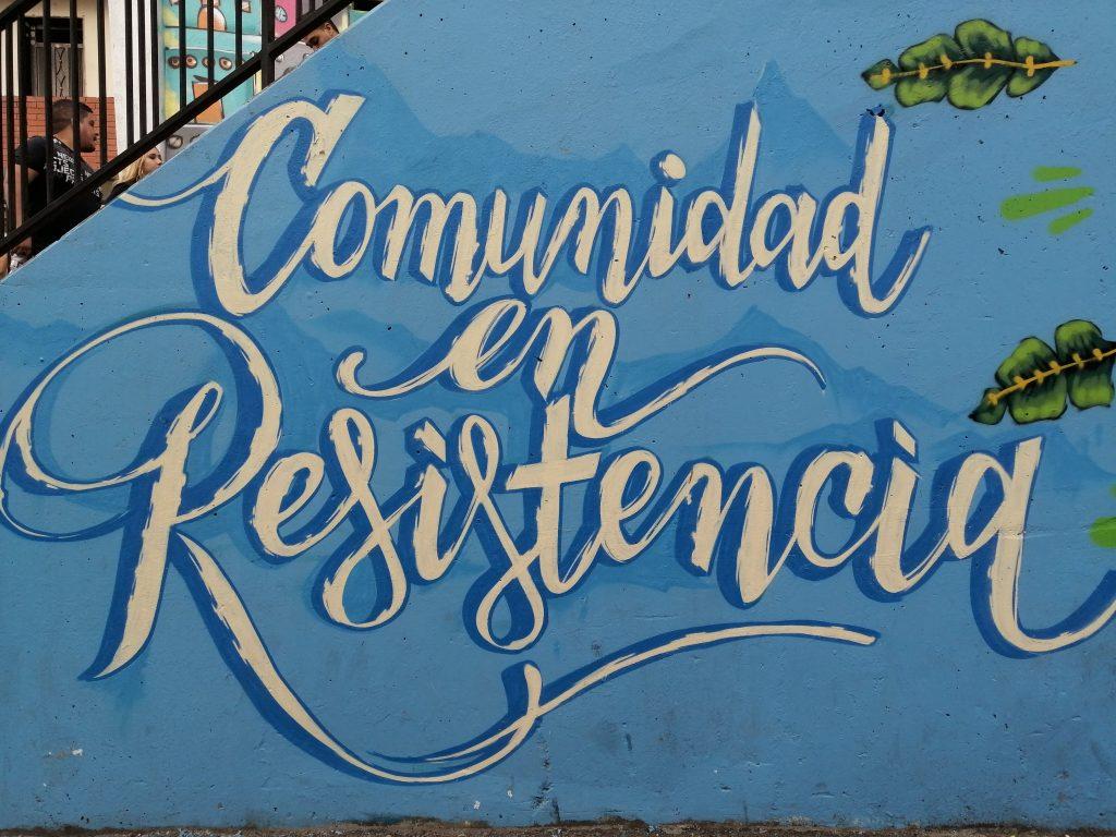 Comuna 13 en Medellín, Colombia.