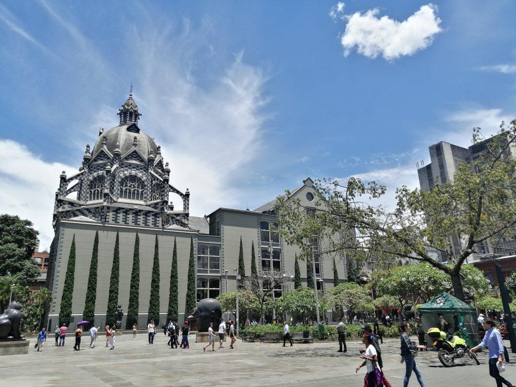 Centro histórico de Medellín, Colombia.