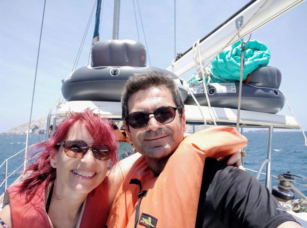 Paseo en barco al Parque Tayrona, Colombia.