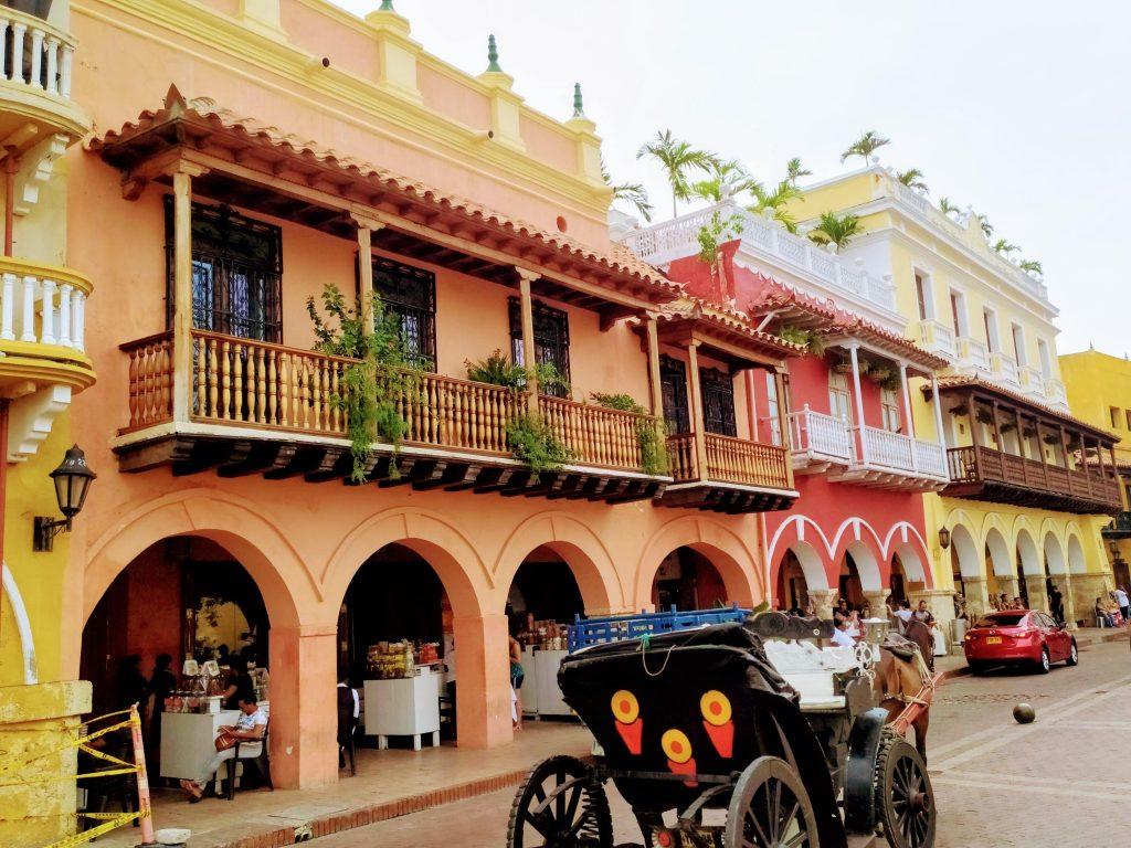 Plaza de los Coches en Cartagena, Colombia.