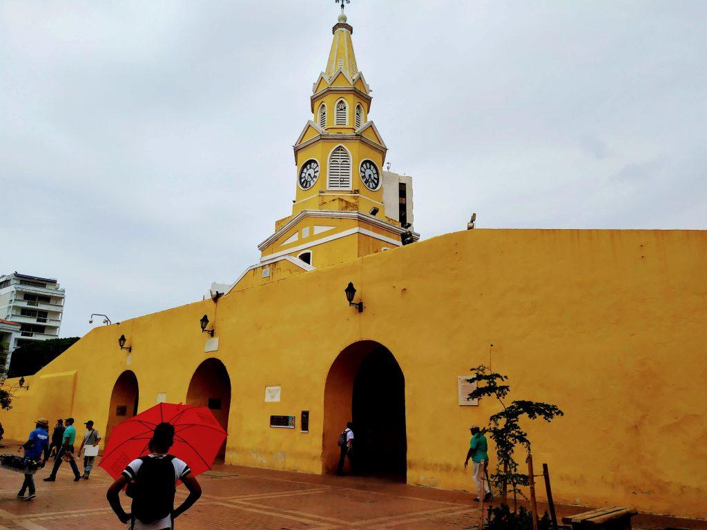 Torre del Reloj en Cartagena, Colombia.