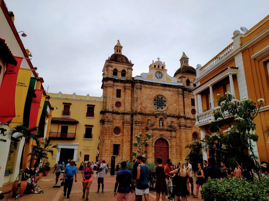 Plaza San Pere Claver en Cartagena, Colombia.