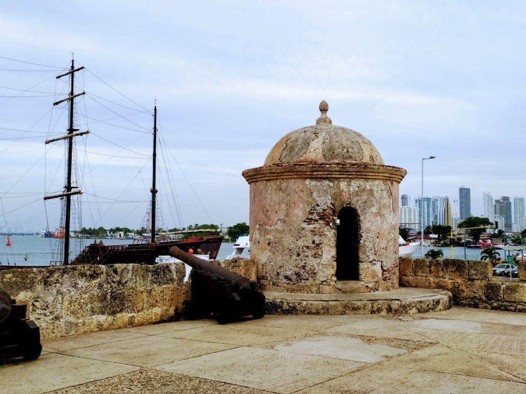Zona amurallada de Cartagena.
