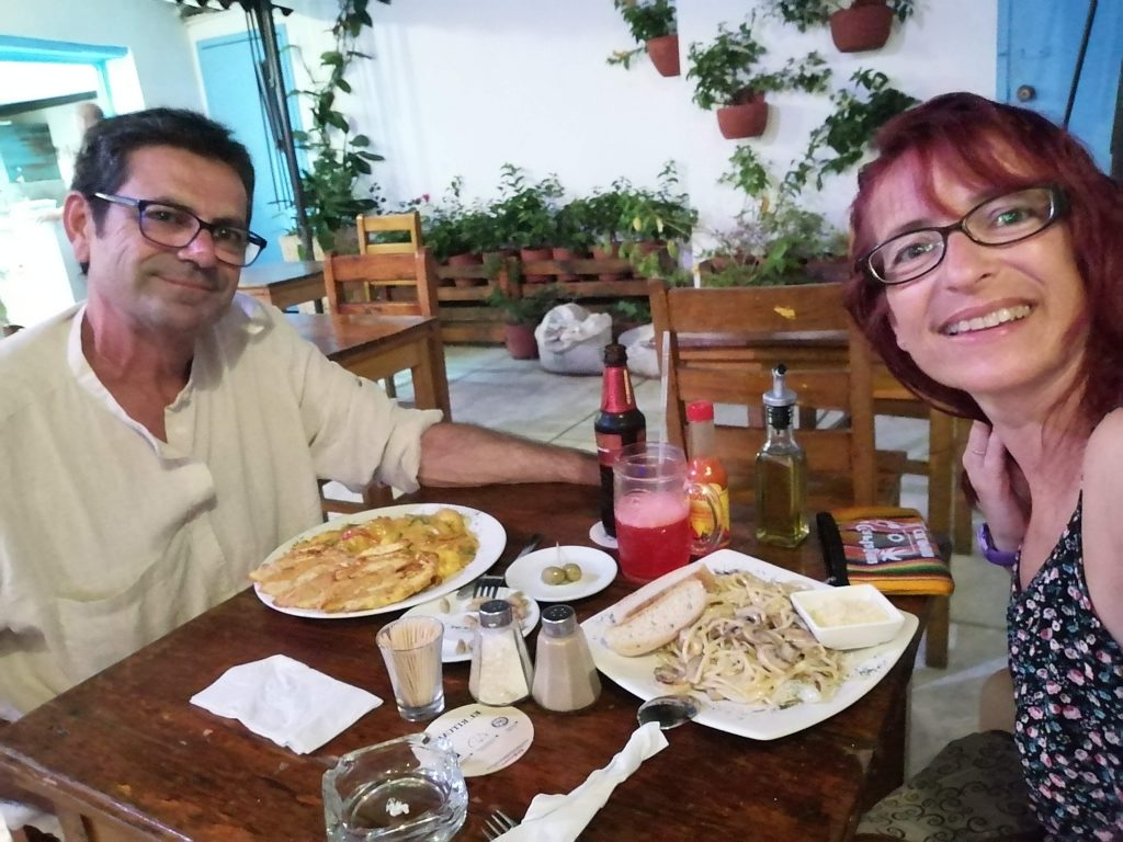Cena en Getsemaní en Cartagena, Colombia.