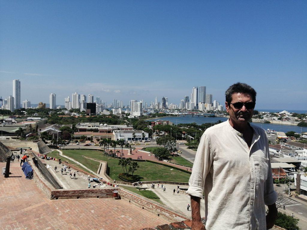 Vistas desde el Castillo de San Felipe en Cartagena.