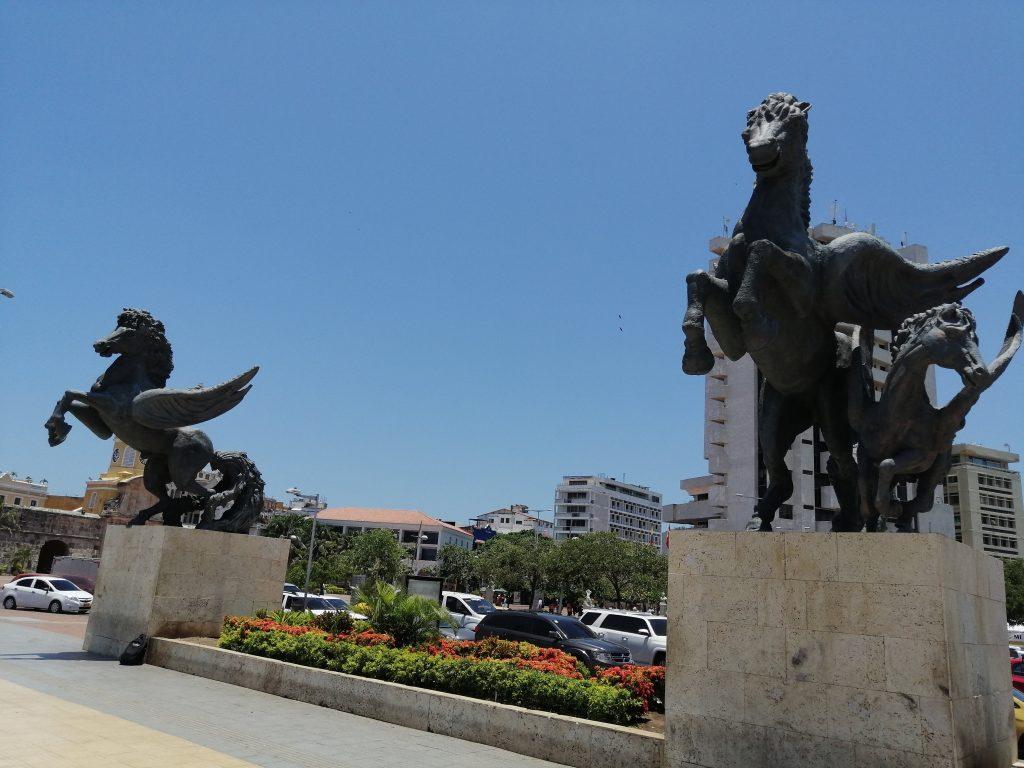 Muelle de los Pegasos en Cartagena, Colombia.