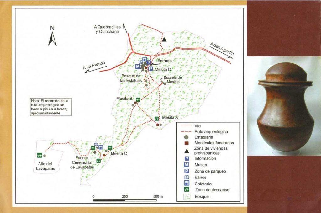 Mapa Parque de San Agustín.