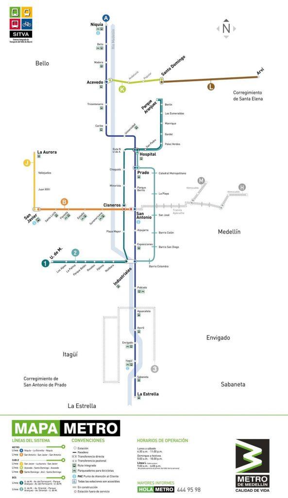 Metro de Medellín, Colombia.